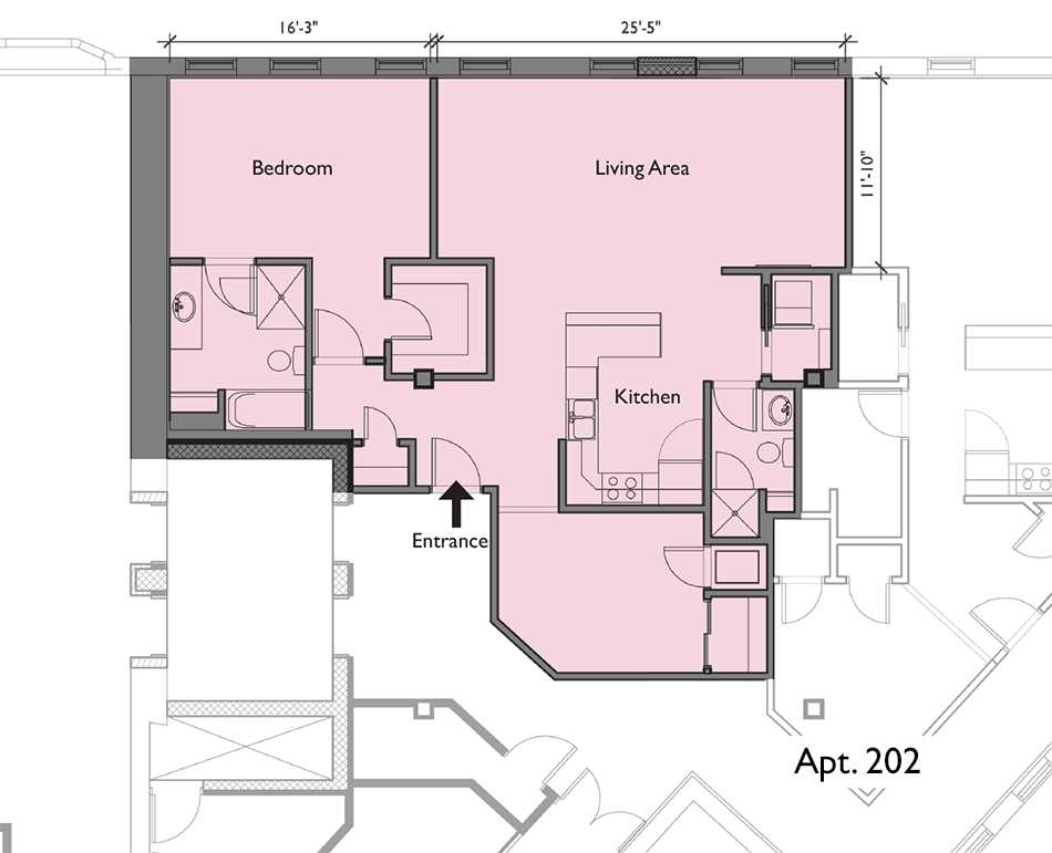 Residential luxury apartment floor plans for Residential blueprints